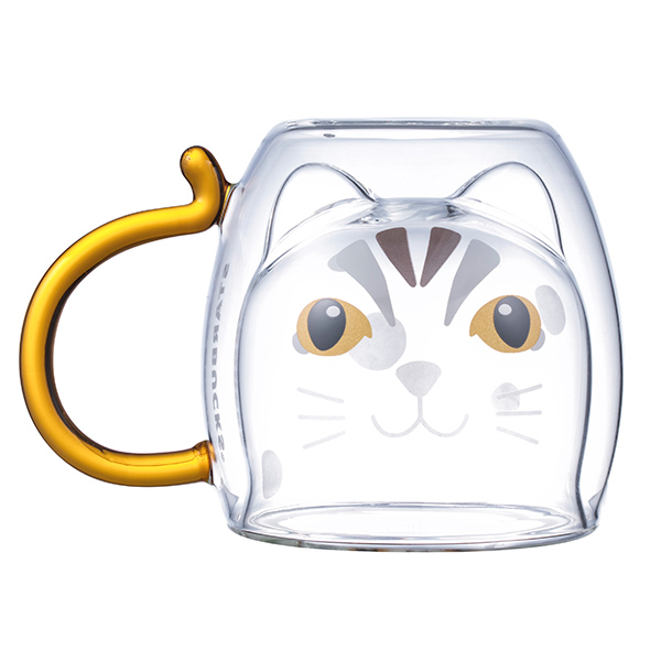 石虎把手雙層玻璃杯